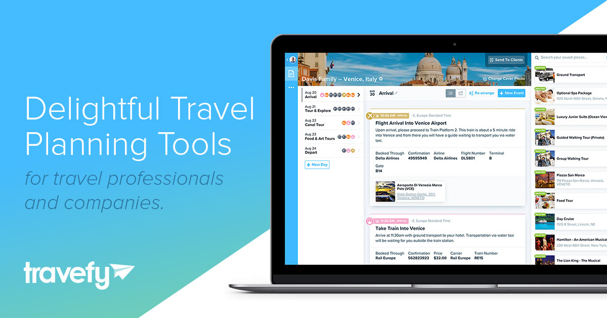 itinerary management for travel professionals travefy